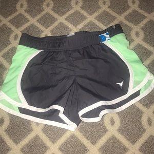 Girls active wear shorts with built in underwear
